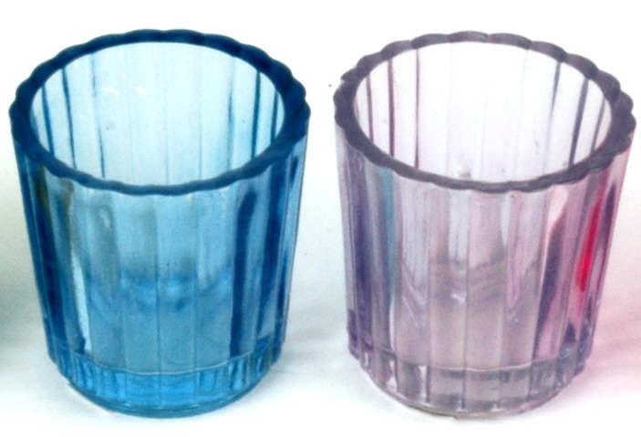 Colored Glass Candle Holders